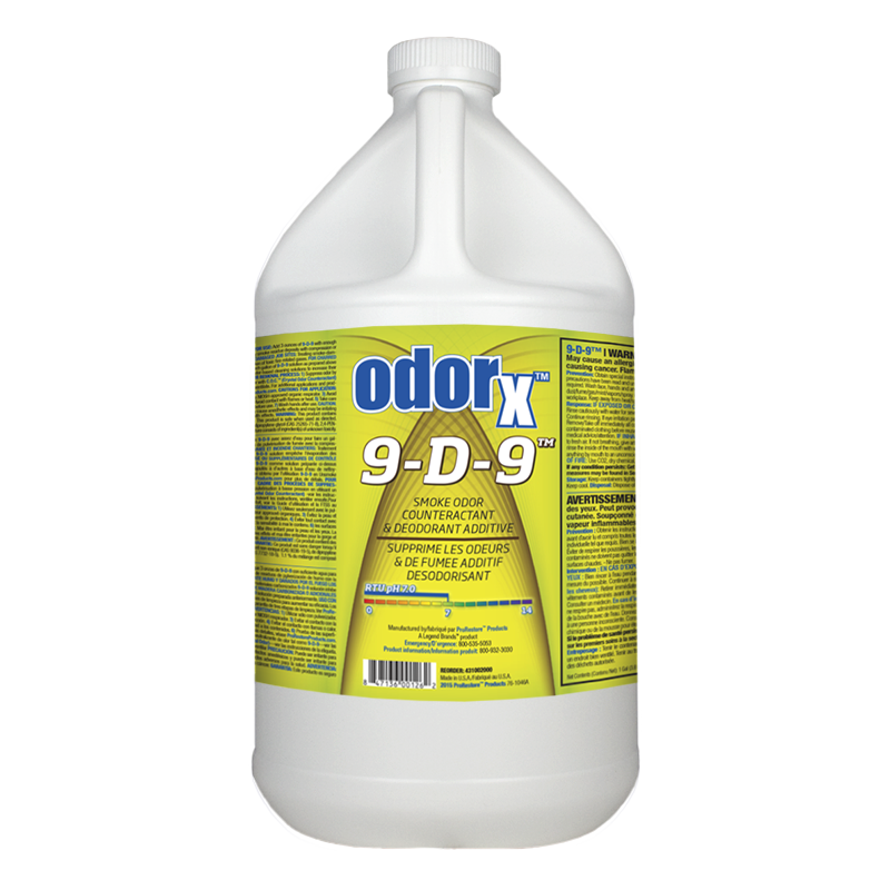 ODORx 9-D-9  Smoke Odor Counteractant & Deodorant Additive